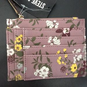 Steve Madden Floral Card & Coin Wallet